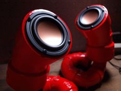 ikyaudio Red Lobester Audio Speakers - for Jill Stamps