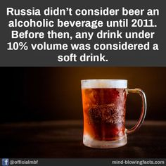 Alcoholic Drinks, Beverages, Mind Blowing Facts, Mind Blown, Did You Know, Vodka, Fun Facts, Funny Quotes, Beer