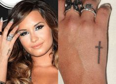 The beautiful Demi Lovato and her awesome tattoo.