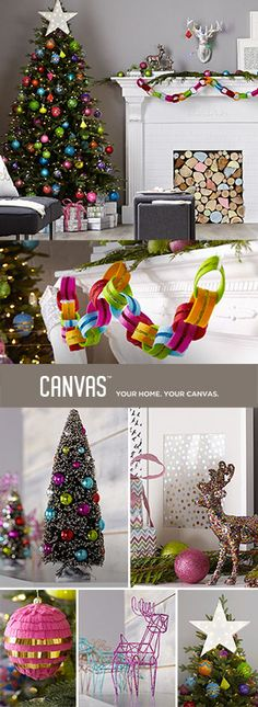 Add a wonderful sense of whimsy with uniquely charming ornaments that are sure to become much-loved family keepsakes. Introducing the CANVAS Christmas Collection. We've got holiday decor that's dramatic, elegant, nostalgic, and just plain fun. Everything is made to mix and match - find the combination that's right for you. Exclusively at Canadian Tire.
