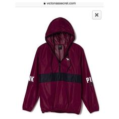 Jacket: coat pink victoria's secret spring coat red burgundy... ❤ liked on Polyvore featuring victoria's secret