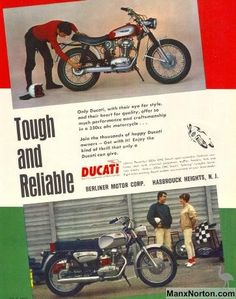 Images of Classic Ducati Motorcycles of the Ducati Desmo, Ducati Scrambler, Ducati Classic, Classic Bikes, Vintage Bikes, Vintage Motorcycles, Vintage Advertisements, Vintage Ads, Ducati Models