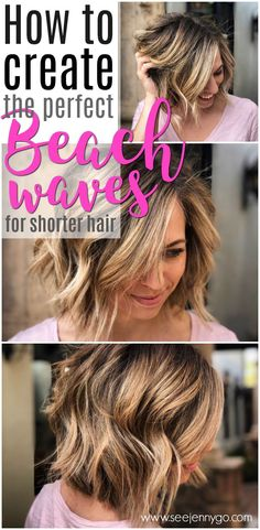 Get ready for summer with easy to follow tutorials for creating the PERFECT beachy waves in short hair!
