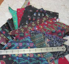 Crazy Quilt  Christmas Fabric Mix Sampler Brocades