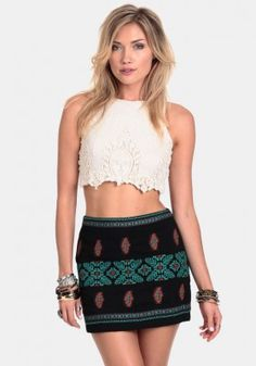 Cajon Pass Embroidered Skirt