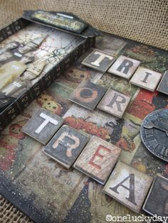 HI everyone!  I am here today with my tutorial for the Tim Holtz Media Team.  You knew Halloween could not pass by without using THIS group ...