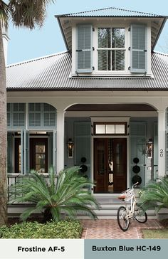 Bring southern charm to your home with this color palette. Learn more about this and find the right style to fit your personality at benjaminmoore.com.