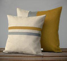 Items similar to Colorblock Stripe Pillow Set - Sangria and Navy Striped Pillow - Sangria and Navy Colorblock Pillow by JillianReneDecor on Etsy Sewing Pillows, Diy Pillows, Cushions, Throw Pillows, Funny Pillows, Pillow Room, Pillow Set, Fall Home Decor, Autumn Home