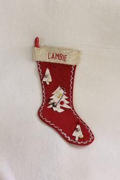 Vintage Christmas Stockings, Vintage Stockings, Handmade Christmas, Etsy Vintage, Christmas Animals, Christmas Inspiration, Felt, Display, Holiday Decor
