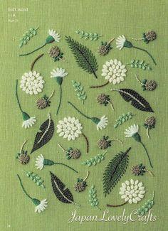 Hand Embroidery Botanical Patterns, Embroidered Flower, Plant, Leaf, Bird Design, Easy Stitch Tutorial, embroider gifts, Handmade Home Decor #embroidery #embroideryart #embroiderydesigns #stitch #stitching #pattern #tutorial #handembroidery #etsy #etsyfinds #japanlovelycrafts #botanical #flower #floral #leaves