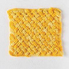 Free Crochet Celtic Weave Dishcloth Pattern from Knit Picks - Super knitting Knitted Washcloths, Crochet Dishcloths, Dishcloth Knitting Patterns, Crochet Patterns, Cloth Patterns, Crochet Ideas, Crochet Stitches, Stitch Patterns, Afghan Patterns