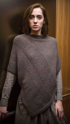 Times Square Poncho Pullover Knitting Pattern | Patternworks