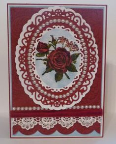 Red Rose Anniversary Card by Art Deco Diva - Cards and Paper Crafts at Splitcoaststampers