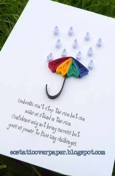 wee little quilled Umbrella