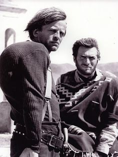 "[CAST] Klaus Kinski (18 October 1926 – 23 November 1991) and Clint Eastwood in ""Few Dollers More"", 1965"
