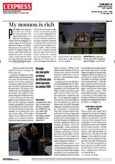 Speaking Agency : L'express, Novembre 2012