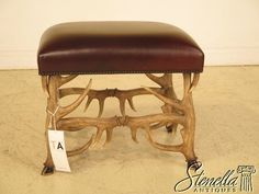 Model: Nimble Stool 4402-041. Detailed faux antler base. Brown Leather Seat. Normal minor signs of use or wear may be present, such as minor nicks, dings or light rubs. We cannot be responsible for misinterpretations. | eBay!