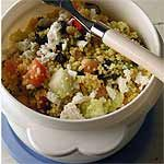 Couscous-Chickpea Salad with Ginger-Lime Dressing Recipe | MyRecipes.com