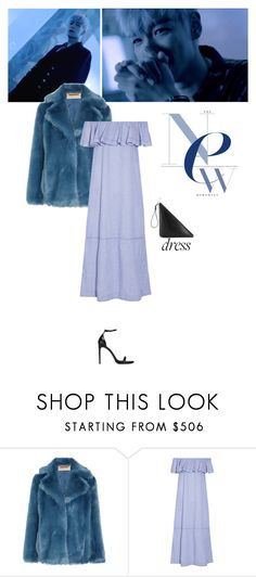 """""""Last Dance"""" by lydiarts ❤ liked on Polyvore featuring MICHAEL Michael Kors, Lisa Marie Fernandez, Yves Saint Laurent, bigbang, Blue, kpop and offshoulderdress"""