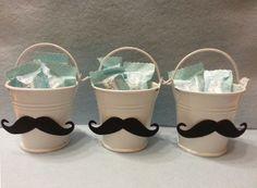 Moustache birthday buckets!