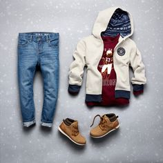 Boys' fashion | Kids' clothes | Zip-up hoodie | Football graphic tee | Jeans | The Children's Place