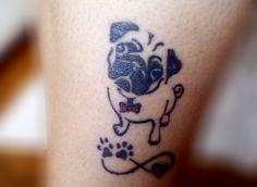 Tatuagem de Pug Mais