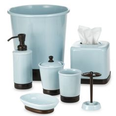 Chocolate Brown Bathroom Accessories. York Blue  Chocolate Bath Ensemble Bed Beyond Dark choc brown and blue wouldn t want accessories to be both