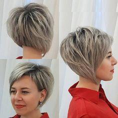 45 Chic Choppy Bob Hairstyles for 2019 - Style My Hairs Trendy Haircut, Pixie Bob Haircut, Choppy Bob Hairstyles, Bob Hairstyles For Fine Hair, Layered Haircuts, Cool Hairstyles, Haircut Styles, Modern Hairstyles, Short Hair Cuts