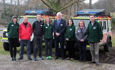 The Eden Tourism team launch launch English Tourism Week 2018 in Eden - with Kirkby Stpehen Mountain Rescue and William Smart VisitEngland's Head of Programmes.