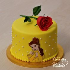 Beauty and the Beast by Dadka Cakes Beauty And The Beast Cake Birthdays, Beauty And The Beast Cupcakes, Beauty And Beast Birthday, Beautiful Cakes, Amazing Cakes, Princess Belle Cake, Belle Birthday Cake, Chocolate Birthday Cake Decoration, Torta Paw Patrol