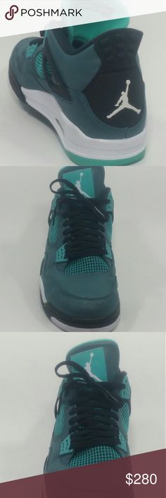 Shop Men's Jordan size 13 Sneakers at a discounted price at Poshmark. Description: Nike Air Jordan Retro 4 Teal Green Anniversary Size Sold by Fast delivery, full service customer support. Sneakers Nike Jordan, Adidas Running Shoes, Nike Air Jordans, Girls Sneakers, Best Sneakers, Jordans For Men, Shoes Sneakers, Jordan Shoes For Sale, Retro Men