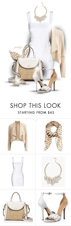 """""""She Needs a Bandage"""" by rockreborn ❤ liked on Polyvore featuring VILA, Brooks Brothers, Balmain, Talbots, Kate Spade and Michael Kors"""