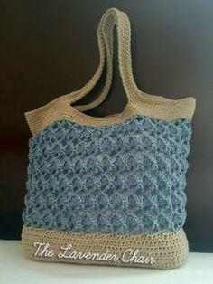 Sensu Fan Market Tote Crochet Pattern - The Lavender Chair