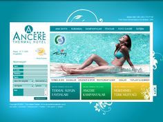 Ancere Thermal Hotel Web Design #2
