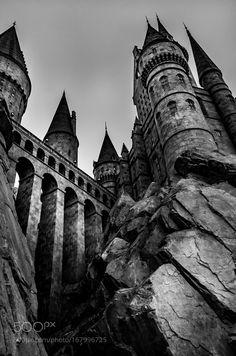 IvikaJgerによるホグワーツ城 - Harry Potter World 2020 Dark Green Aesthetic, Gothic Aesthetic, Slytherin Aesthetic, Harry Potter Images, Harry Potter World, Paradis Sombre, Black And White Picture Wall, Dark Castle, Fantasy Castle