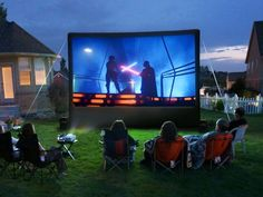 Build A Backyard Movie Theater • Lots of great Ideas  Tutorials! Including tons of info on this set-up from 'digital trends'.