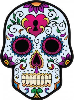 sticker calavera tete de mort mexicaine 3 refd7441 mpa dco