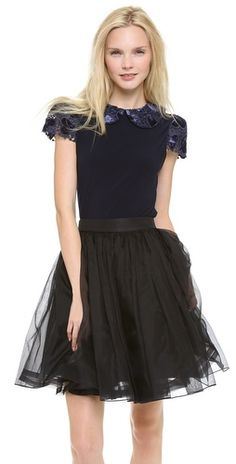 tulle, velvet and lace? yes, please!