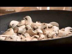 ΚΑΝΤΟ ΟΠΩΣ Ο ΑΚΗΣ: Καλτσόνε με 2 τυριά και μανιτάρια - YouTube Stuffed Mushrooms, Vegetarian, Dinner, Vegetables, Youtube, Recipes, Food, Stuff Mushrooms, Dining