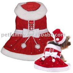 roupas de papai noel para cachorro - Pesquisa Google