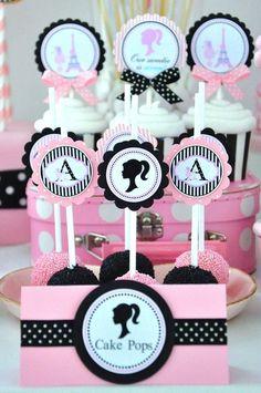 Vintage Barbie cake pops