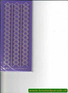 Stickervel paars/Gold nr. 3019 - Sticker sheets