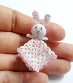 1:12 Dollhouse miniature baby crochet safety blanket by MiniGio