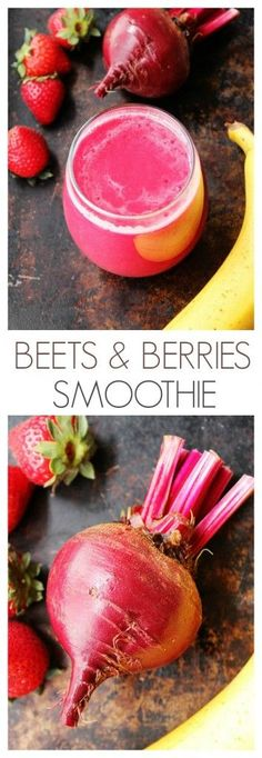 Beets and Berries Smoothie - a power-drink that's packed with Vitamins, anti-oxidants and gives your skin a healthy glow.