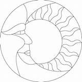 6 Best Images of Printable Sun And Moon Designs - Mandalas Coloring Pages of Cool Designs, Free Sun Moon Stained Glass Pattern and Sun and Moon Mandala Coloring Pages Free Mosaic Patterns, Stained Glass Patterns Free, Faux Stained Glass, Stained Glass Designs, Mosaic Crafts, Mosaic Projects, Stained Glass Projects, Mosaic Designs, Mosaic Art