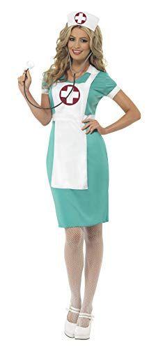 TecTake dressforfun Costume pour Femme Infirmi/ère L   301416 Y Compris Coiffe Fermeture /éclair sur Le Devant de la Robe