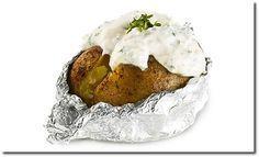 Folienkartoffel mit Kräuterquark