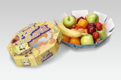 Gift pack with content #packaging #fruit PD