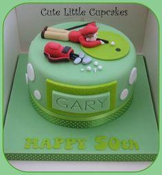 Golf Cake - by HeidiS @ CakesDecor.com - cake decorating website