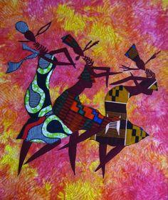 Asabone  Art Quilts ready to Ship As Seen On The by braidandstitch  A Wendy Mamattah Quilt.